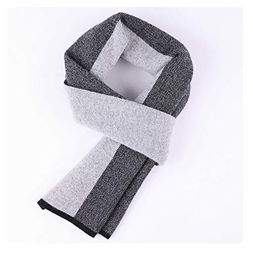 Xu Yuan Jia-Shop Moda Bufanda Chal De Gama Alta 100% Calor Hombres de la Cachemira de la Bufanda Espesado en otoño e Invierno, Bufandas Retro for Hombres Bufanda acogedora (Color : A)