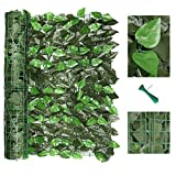 120' x 40' Artificial Ivy Privacy Fence Screen, Privacy Wall, Privacy Screen, Artificial Faux Ivy Hedge Leaf & Vine Privacy Fence Wall Screen, Decoration for Outdoor Decor, Garden, Yard (Peach Leaf)