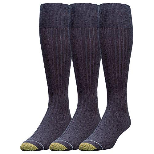 Gold Toe Herren Canterbury Over-The-Waden-Kleidersocken, 3 Paar - blau -