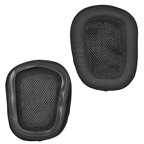 Almohadillas de repuesto para auriculares G933 compatibles con Logitech G933 G633 Artemis Spectrum Wireless 7.1 Surround Gaming Headset.