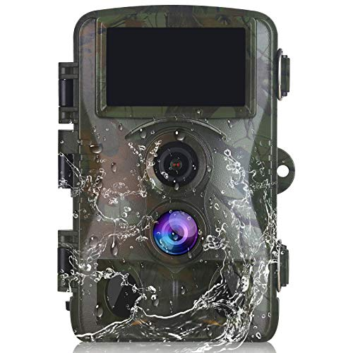 Vmotal Trail Camera Game Hunting Scouting Cam 4K Video/20MP Image Wildlife Monitoring 120° Detecting Range Motion Activated Night Vision 3 Infrared Sensors 0.2s Trigger Speed 2.4