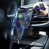 WALOTAR Wireless Car Charger CD Slot Phone Mount, Auto-Clamping 10W Qi Fast Charging Infrared Smart Sensor Air Vent Cell Phone Holder,Compatible with iPhone 12 Pro Max 11 Xs Xr X 8,Samsung S20 S10 S9