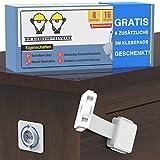 Sicherheitszwerge® Premium Kindersicherung Schubladen [8er Pack] Schranksicherung Baby - Schubladensicherung Baby - Kindersicherung Schrank