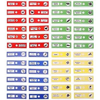 UEETEK 48 Piezas Preparado portaobjetos, 4 colores Muestra...