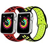 iGK Compatible Apple Watch Band 38mm 40mm 42mm 44mm Wristbands Women Men, Soft