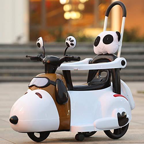 Lotee Coches eléctricos for niños Ride On Push Car Ride On Cartoon Car Stroller Convertible Toy RC Car Gliding Scooter con luz de Sonido por niños Electric Ride Children Gifts Kids Toy