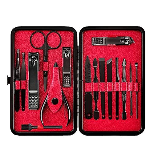 Set Manicure Tagliaunghie, Strumenti per Manicure e Pedicure, Tagliaunghie Set Professionale, Set Tagliaunghie Unghie, 16 Pezzi