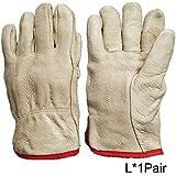 HUI JIN - Guantes térmicos de piel con forro de alta calidad para conductores (resistencia al frío, 1 par)