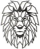 """Bekata - Decoración de Pared de Metal con Cabeza de león Africano, diseño de Cabeza de león Africano, Negro, Large Size: 38"""" x 48 """" Inch (98 x 122 cm)"""