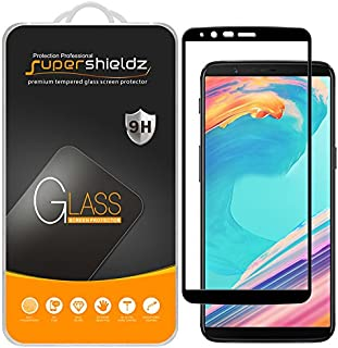 (2 Pack) Supershieldz for OnePlus 5T Tempered Glass Screen Protector, (Full Screen Coverage) Anti Scratch, Bubble Free (Bl...
