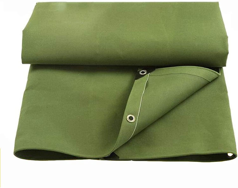 DALL ターポリン ヘビーデューティ キャンバス 防水 日焼け止め 多目的 メタルボタンホール 引裂抵抗 450g /m2 厚さ0.6mm (Color : 緑, Size : 6×10m)