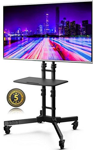 ONKRON Supporto per TV a Pavimento per Plasma LCD LED 32 - 65 Pollici Piedistallo TV Carico max 40 kg VESA max 600 x 400 mm TS122 BLACK