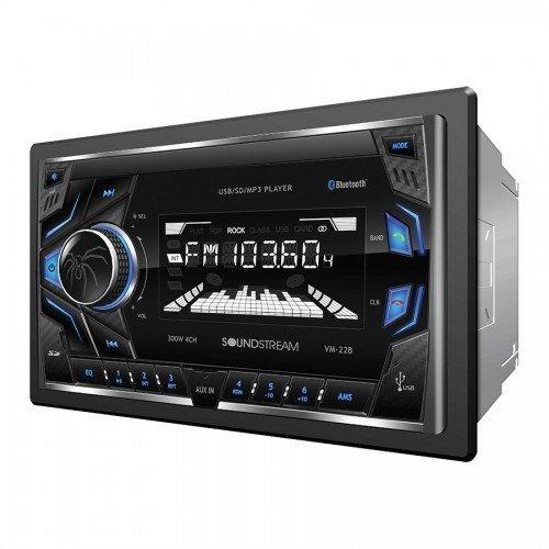 Soundstream VM-22B Single DIN Digital Media Receiver w/ 32GB SD/USB Playback, AM/FM Receiver, & Bluetooth