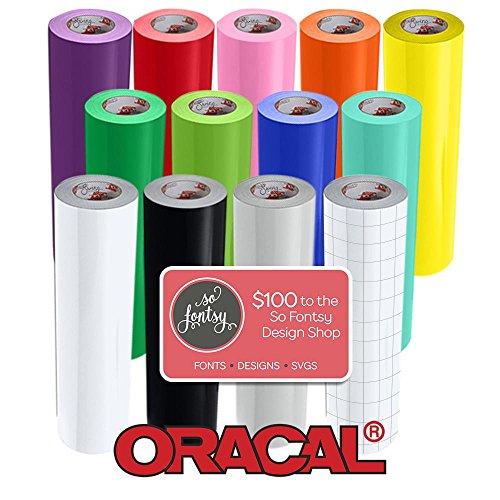 Vinyl Starter Kit Bundle Gloss Craft Adhesive Transfer Paper Multi-Color Roll