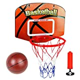Basketball Hoop Ball Games Kids Toys Basketball Hoop Wall Mounted Sports Toys Indoor Outdoor with Ball & Pump Educational Toys for Children 5 6 7 8 Years Old Boys Girls Gifts