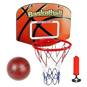 Canasta Baloncesto Infantil Juguetes para Niños Mini Canasta Baloncesto Oficina Exterior Interior con Balon y Inflador Juegos Educativos Regalo Para Niña Niño 5 6 7 8 Años