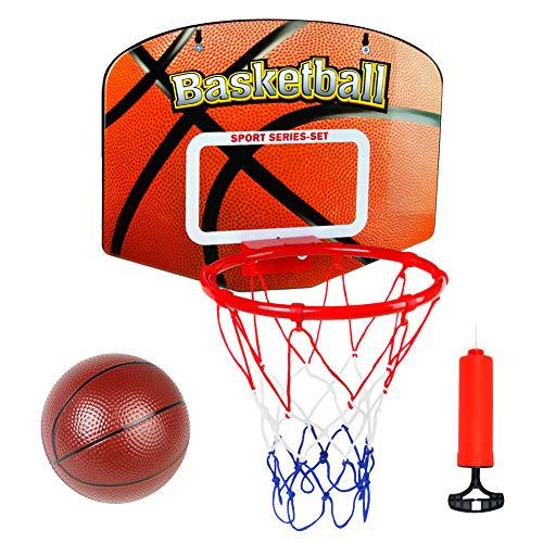 Symiu Canasta Baloncesto Infantil Juguetes para Niños Mini Canasta Baloncesto Oficina Exterior Interior con Balon y Inflador Juegos Educativos Regalo para Niña Niño 5 6 7 8 Años