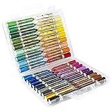 36 lápices de colores en cera, pintura de acuarela, soluble en agua   ultra suave, untuoso y altamente pigmentado   usar seco y mojado   Diseño de papeles mezclados en papel, cartón, lona, madera