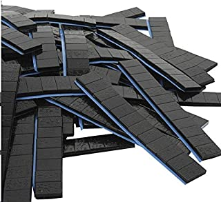 DWT GERMANY 100729 100 je 12/5g Stück Auswuchtgewichte Schwarz 6kg Klebegewichte Stahlgewichte Kleberiegel Abrisskante Verzinkt Riegel FE Eisen Runde Kante