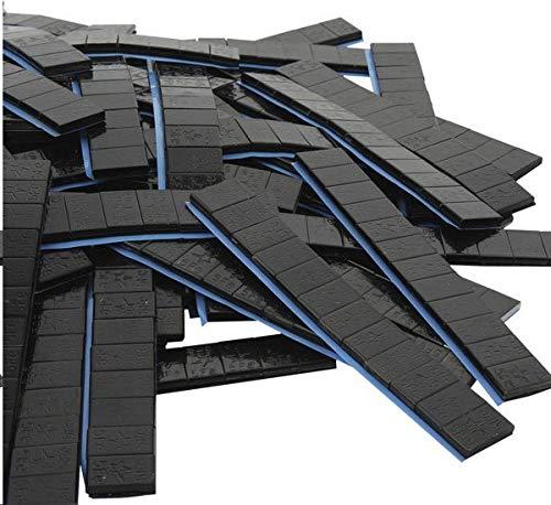 DWT-GERMANY 100729 100 unidades de 12/5 g de contrapeso, negro, 6 kg, contrapesos adhesivos, borde de corte galvanizado, cerrojo de hierro, borde redondo