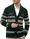 Paul Jones メンズ カーディガン セーター ショール 襟 ボタン フェアアイルニットセーター US サイズ: Small カラー: グリーン