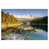 artboxONE Poster 90x60 cm Natur Am Eibsee in Bayern