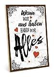 TypeStoff Holzschild mit Spruch – Liebe – im