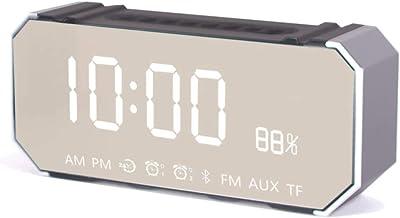ZHAOHUIFANG Reloj Despertador Digital Inalámbrico Bluetooth Altavoz Reloj Despertador Mute Reloj Electrónico Estudiante Multifunción Inteligente Tamaño