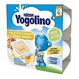 Nestlé Yogolino Melocotón Plátano Sin Azúcar Añadido, A Partir De Los 6 Meses - Pack 6 tarrinas 4x100g
