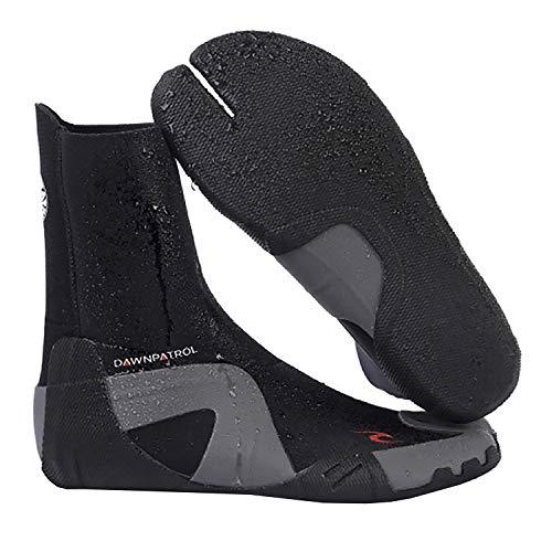 RIP CURL Dawn Patrol 5MM Round Toe Neoprenanzug Stiefel Schuhe - Schwarz - Unisex - Leichtes Schiebesystem - SOS - Sensitive Sohle