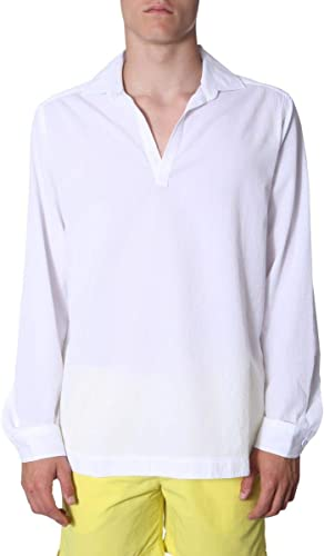 Orlebar marron Homme OB27022730blanc Blanc Coton Polo