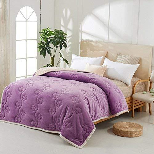 Crystallly winterverdikking deken luier vrijetijdsactiviteiten sofa deken 150 cm x eenvoudige stijl 200 cm bruin B Simplicity Classic Mode Style