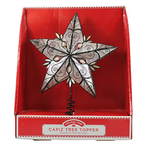 Dazzling Deals Holiday Time Capiz Tree Topper