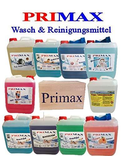 Primax Wunschpaket Blackwash Waschgel Colorgel Microfasertuch Ausgießer und ein Parfüm gratis