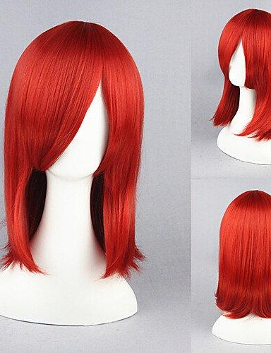 Einfache und bequeme Art und Weise Perücken europäisches Haar 18inch kuroshitsuji-madame rouge Wein red anime Cosplay Perücke