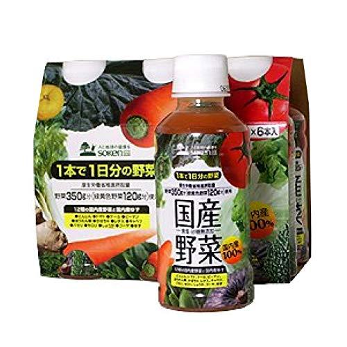 無添加 野菜ジュース 国産野菜 200g×6本セット ★ 宅配便 ★ 1本に1日分の野菜を使用(野菜を350g分使用、その内120g分は緑黄色野菜使用)。国内産100%(11種類の国内産野菜と国内産レモンを使用)。食塩・砂糖・香料・保存料不使用。