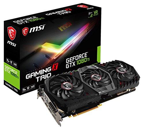 MSI GeForce GTX 1080 Ti Gaming X Trio GeForce GTX 1080 Ti 11GB GDDR5X - Tarjeta gráfica (GeForce GTX 1080 Ti, 11 GB, GDDR5X, 352 bit, 7680 x 4320 Pixeles, PCI Express x16 3.0)
