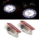 LIKECAR 2 pcs lumières de Porte projecteur de Voiture Car LED Bienvenue Logo Voiture fantôme Ombre Bienvenue lumière (GLA blue2)