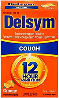 Delsym Adult 12 Hr Cough Relief Liquid, Orange, 5oz