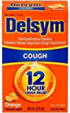Delsym Adult Cough Suppressant Liquid, Orange Flavor, 5 Ounce (Pack of 4)
