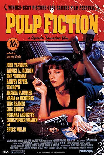 Pulp Fiction Drucken, Mehrfarbig, 61 x 91.5cm