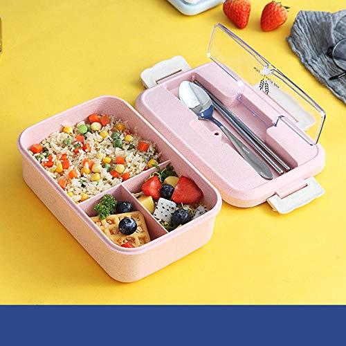 Brotdose für Kinder mit Fächern Geschirr Bento-Box Essenszubereitungsbehälter für Erwachsene Lebensmittelbox Kunststoff-Lebensmittelbehälter | Brotdosen | |