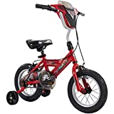 Huffy Disney Cars Kid Bike Quick Connect Assembly, Handlebar Plaque w/Sounds & Training Wheels, 12' Red