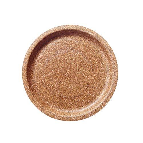 Aus WEIZENKLEIE: Ein- oder Mehrweg Besteck/Geschirr. Kompostier- und 100% biologisch abbaubar. Patentiert. (10 x Teller flach / flat plate Ø 24 cm)