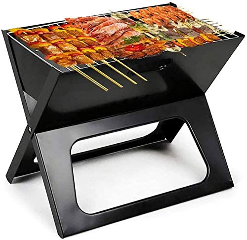 J & J Barbecue Charcoal Grill, Foldable Charcoal Grill, Ultra-Light Foldable Grill Is Easy To Install, Very Suitable for Camping Outdoor Garden Party