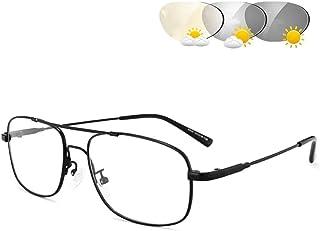 Leesbril Voor Mannen En Vrouwen, Double Light Photochromic Transition Lens Presbyopia UV400 Zonnebril Fashion Thin Eyewear...