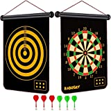 Fowecelt Safety Magnetic Dart Board for Kids Teens, Indoor Outdoor Double Sided Dartboard Bullseye Games Set for Boys Teens Adults Family Carnival Birthday Party Games Leisure Sports