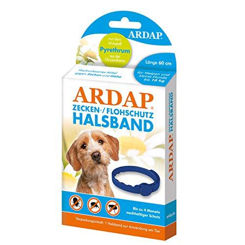 ARDAP Zecken- & Flohschutzhalsband für Hunde & Welpen bis 10kg- Bis zu 4 Monate nachhaltiger Langzeitschutz - Natürlicher Wirkstoff gegen Zecken & Flöhe