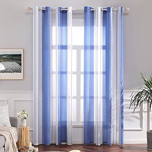 cortinas translucidas cortas para ventanas