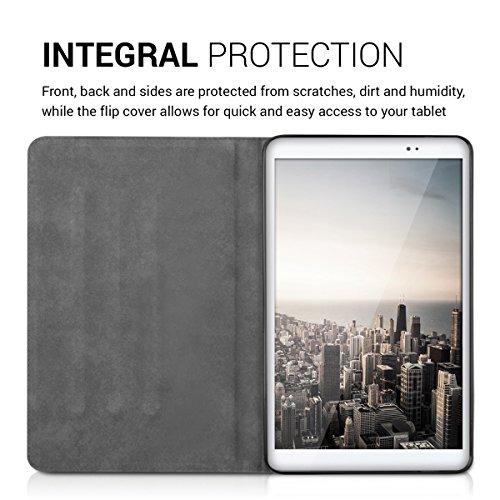 kwmobile Huawei MediaPad T1 10 Hülle - Tablet Cover Case Schutzhülle für Huawei MediaPad T1 10 mit Ständer - 4